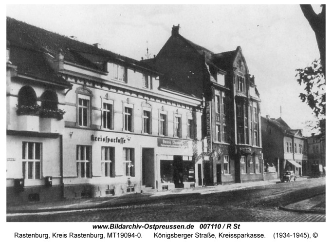 Rastenburg, Königsberger Straße 13, Kreissparkasse