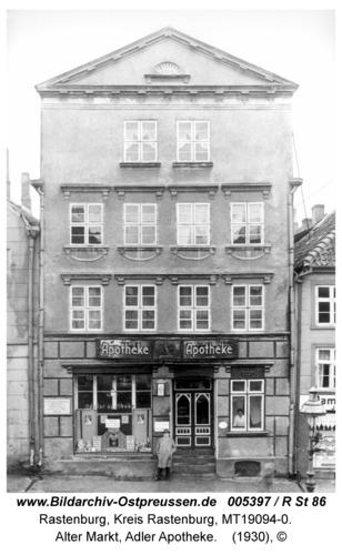 Rastenburg, Alter Markt, Adler Apotheke