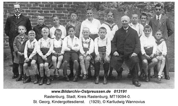 Rastenburg, St. Georg, Kindergottesdienst