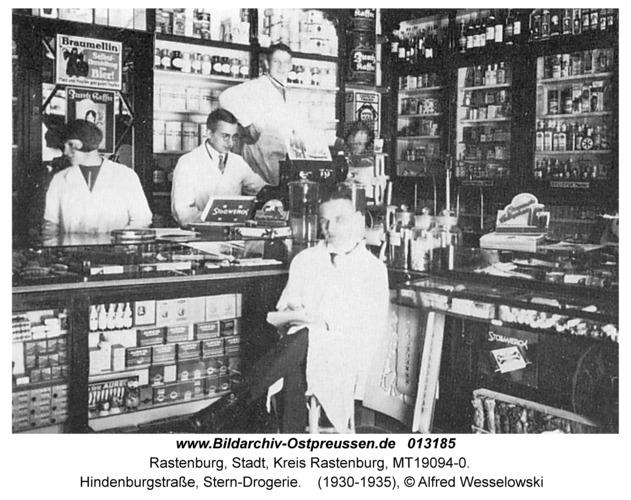 Rastenburg, Hindenburgstraße, Stern-Drogerie
