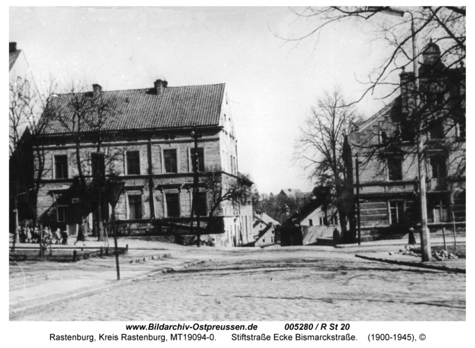 Rastenburg, Stiftstraße Ecke Bismarckstraße