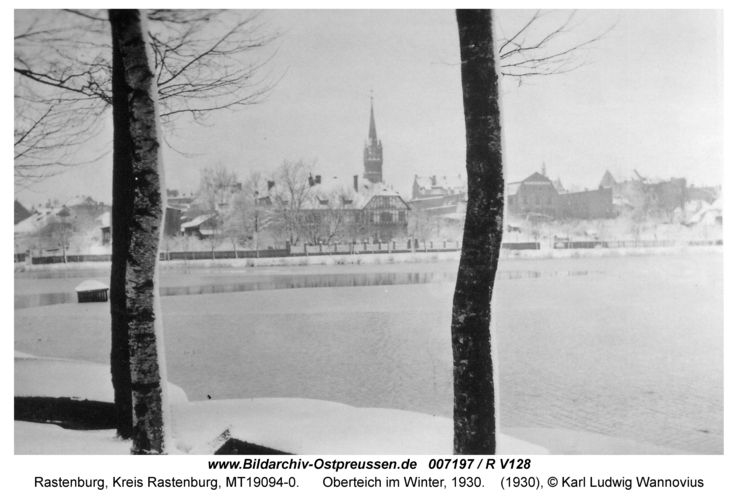 Rastenburg, Oberteich im Winter, 1930