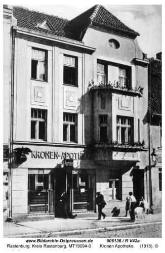 Rastenburg, Königsberger Straße, Kronen Apotheke