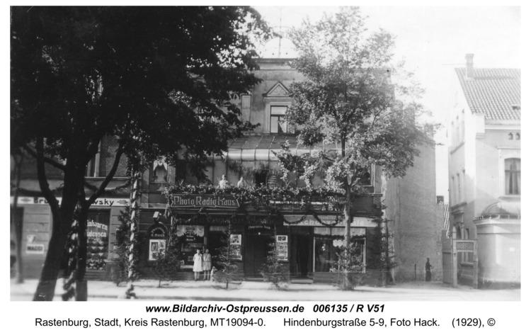 Rastenburg, Hindenburgstraße 5-9, Foto Hack