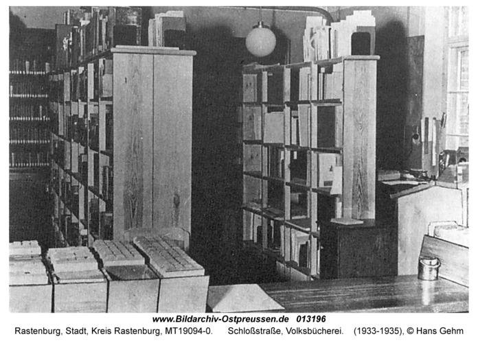 Rastenburg, Schloßstraße, Volksbücherei