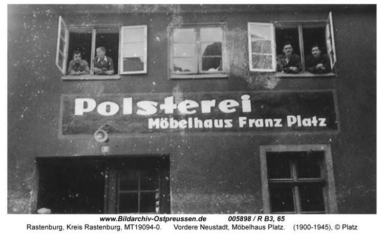 Rastenburg, Vordere Neustadt 16, Möbelhaus Platz