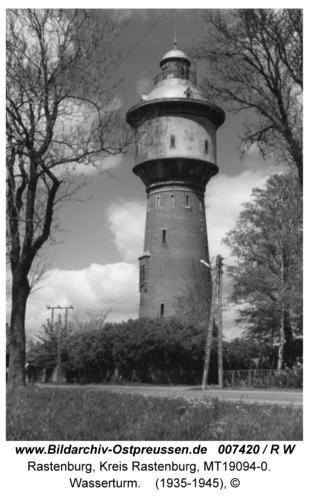 Rastenburg, Hindenburgstraße, Wasserturm