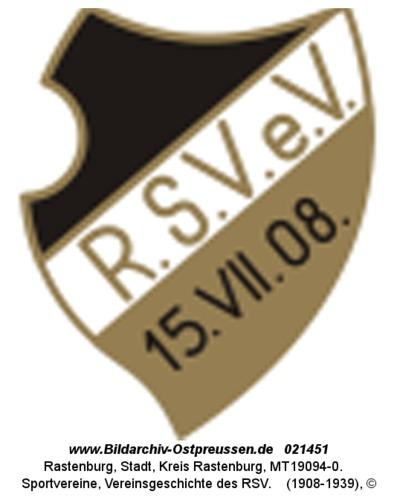 Rastenburg, Sportvereine, Vereinsgeschichte des RSV