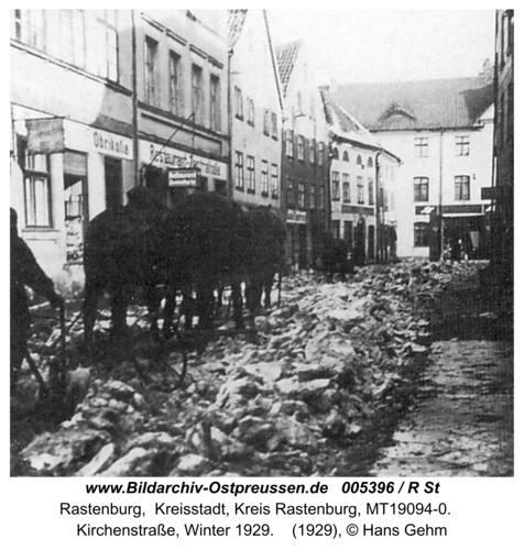 Rastenburg, Kirchenstraße, Winter 1929