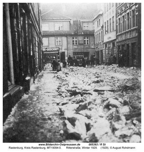 Rastenburg, Ritterstraße, Winter 1929
