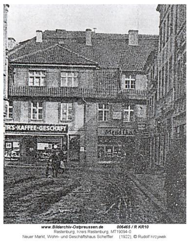 Rastenburg, Neuer Markt, Wohn- und Geschäftshaus Scheffler