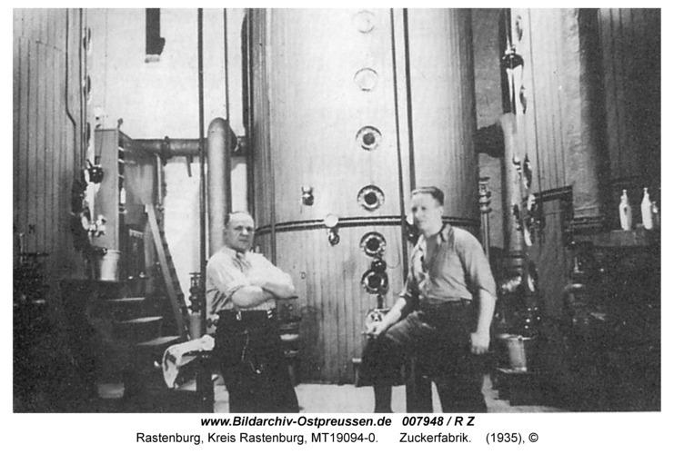 Rastenburg, Zuckerfabrik, Kochstation