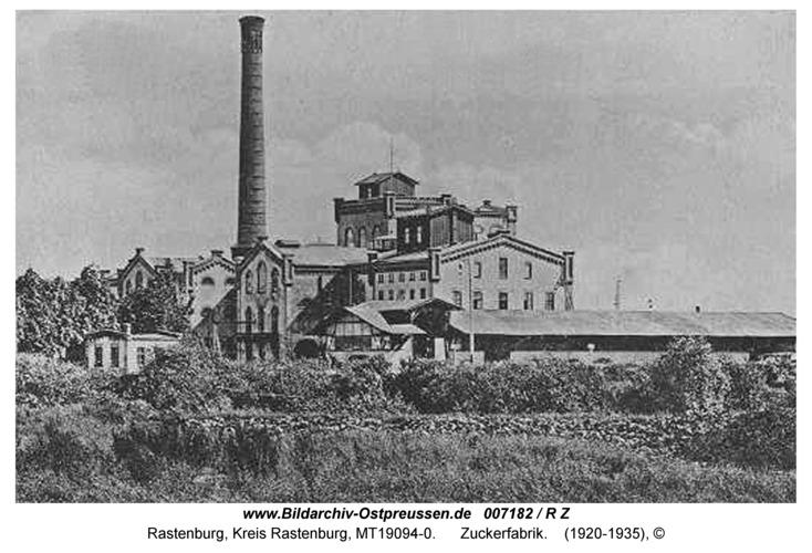 Rastenburg, Zuckerfabrik