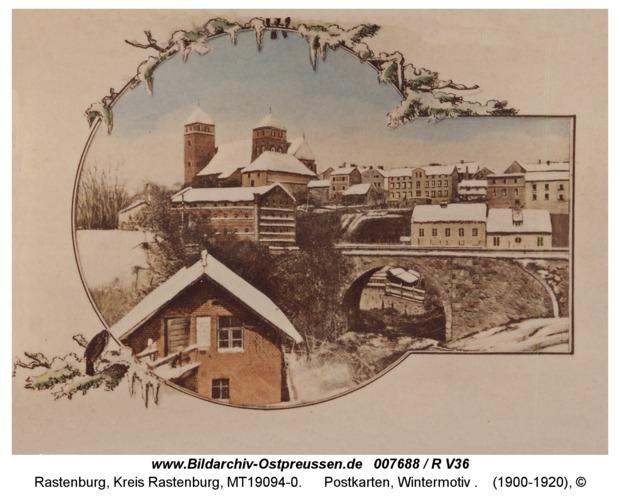 Rastenburg, Postkarten, Wintermotiv