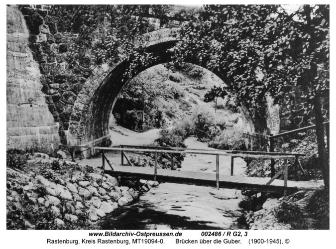 Rastenburg, Brücken über die Guber
