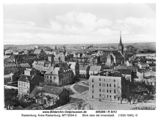 Rastenburg, Blick über die Innenstadt