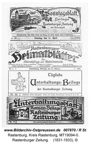 Rastenburg, Alter Markt, Rastenburger Zeitung