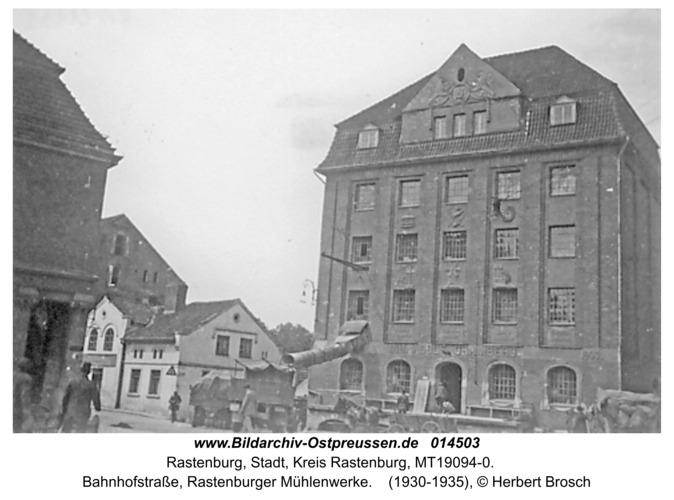 Rastenburg, Bahnhofstraße, Rastenburger Mühlenwerke