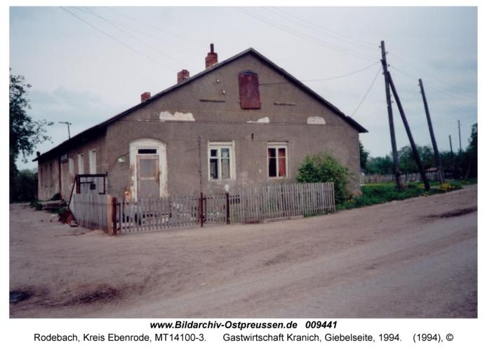 Rodebach, Gastwirtschaft Kranich, Giebelseite, 1994