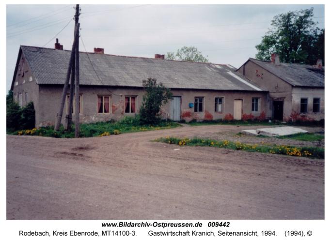 Rodebach, Gastwirtschaft Kranich, Seitenansicht, 1994