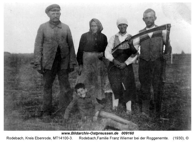 Rodebach, Familie Franz Wiemer bei der Roggenernte