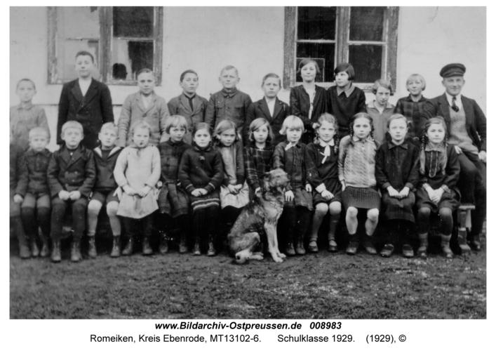 Romeiken, Schulklasse 1929