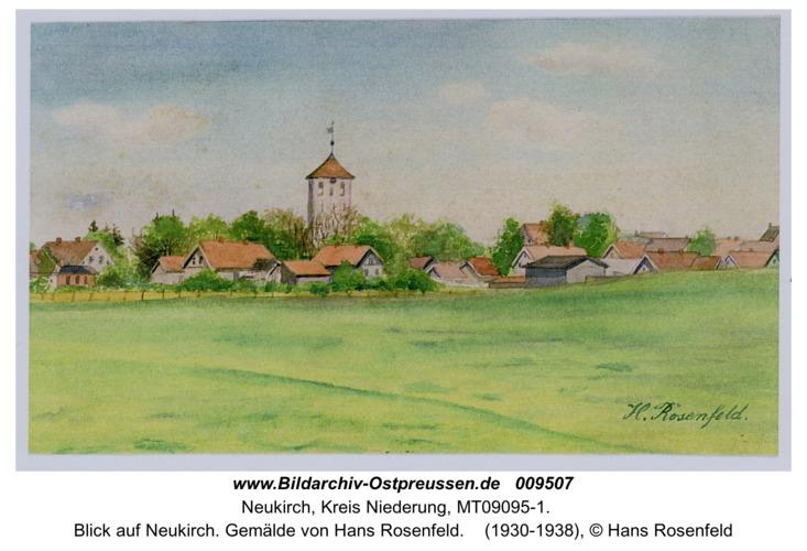 Blick auf Neukirch. Gemälde von Hans Rosenfeld