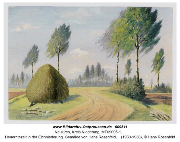 Heuerntezeit in der Elchniedrung. Gemälde von Hans Rosenfeld