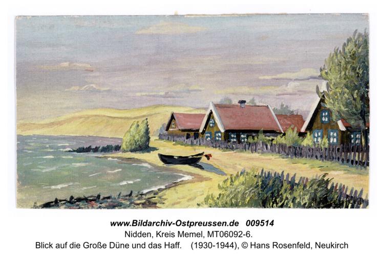 Nidden, Blick auf die Große Düne und das Haff