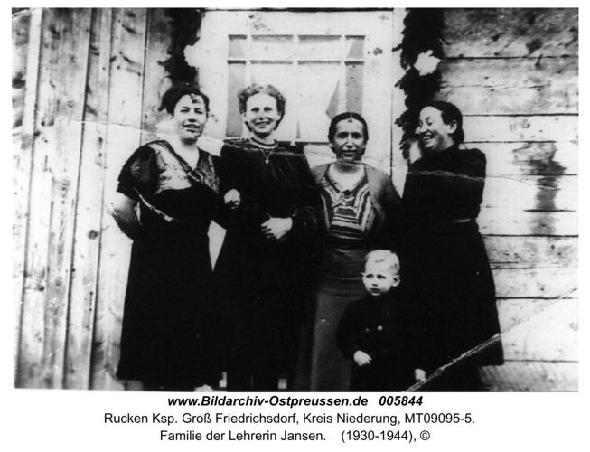 Ruckenfeld, Familie der Lehrerin Jansen