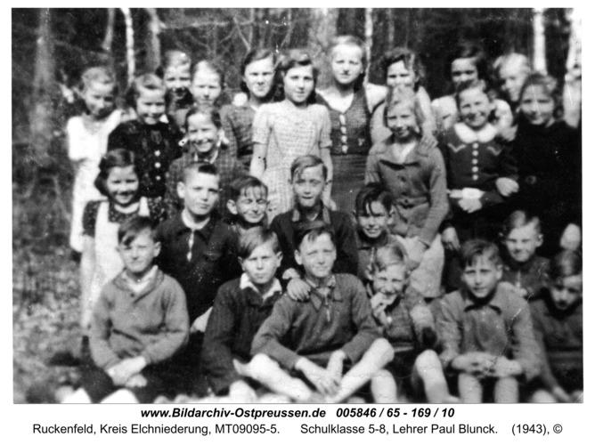 Ruckenfeld, Schulklasse 5-8, Lehrer Paul Blunck