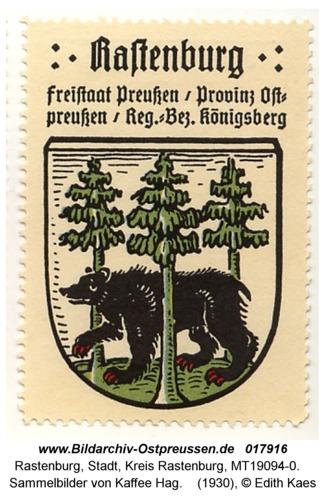 Rastenburg, Sammelbilder von Kaffee Hag