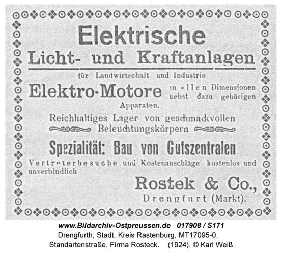 Drengfurt, Standartenstraße, Firma Rosteck