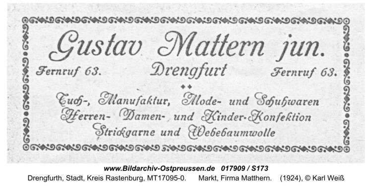 Drengfurt, Markt, Firma Matthern