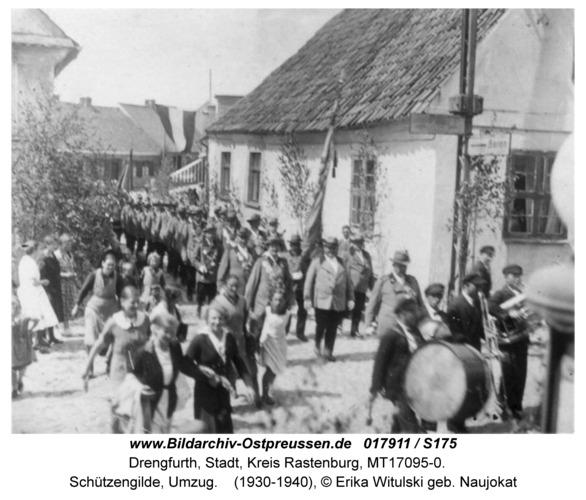 Drengfurt, Schützengilde, Umzug