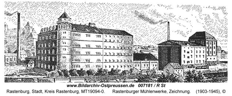 Rastenburg, Rastenburger Mühlenwerke, Zeichnung