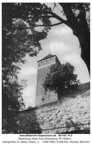 Rastenburg, Georgenthal, St .Georg, Hoher Turm und Stadtmauer