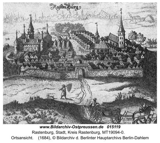 Rastenburg, Ortsansicht