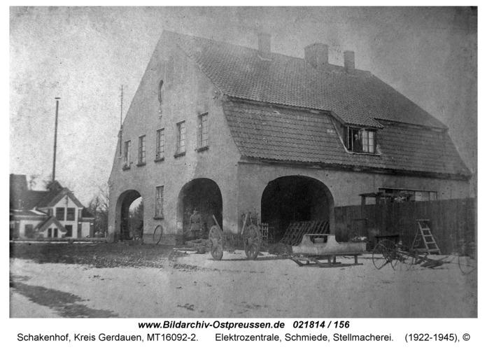 Schakenhof Kreis Gerdauen, Elektrozentrale, Schmiede, Stellmacherei