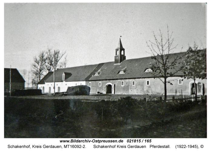 Schakenhof Kreis Gerdauen Pferdestall