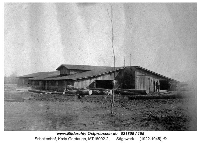Schakenhof, Sägewerk