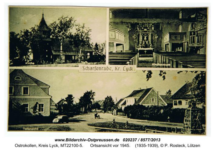 Scharfenrade, Ortsansicht vor 1945