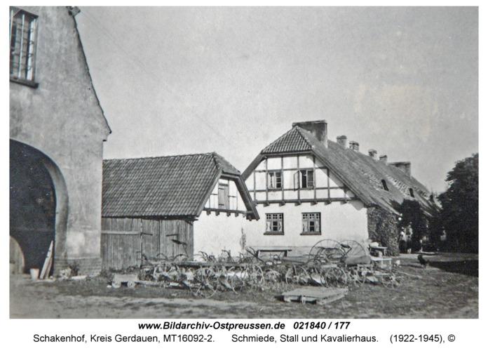 Schakenhof, Schmiede, Stall und Kavalierhaus