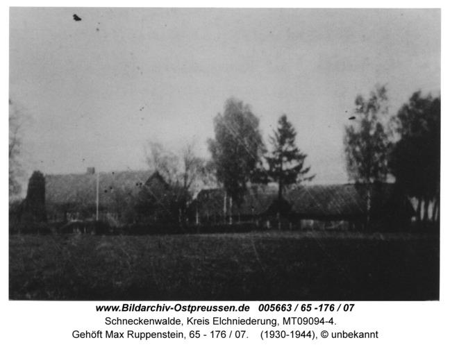 Schneckenwalde, Gehöft Max Ruppenstein, 65 - 176 / 07