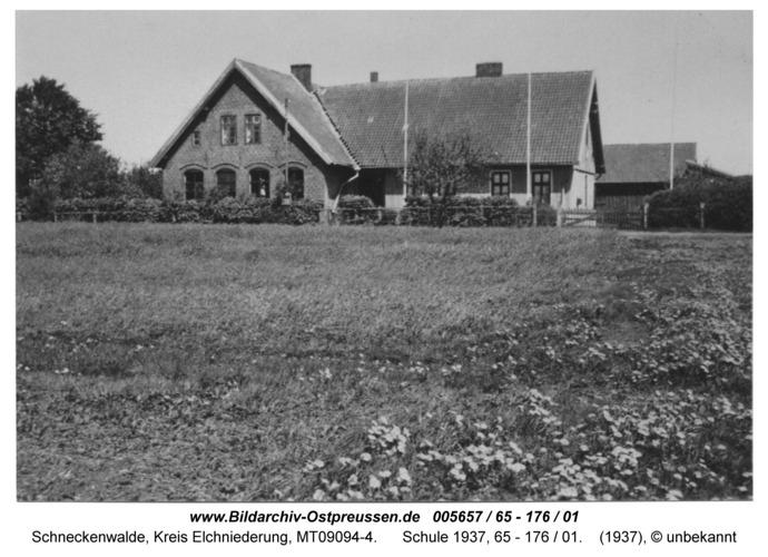 Schneckenwalde, Schule 1937, 65 - 176 / 01