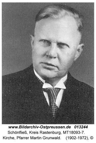 Schönfließ, Kirche, Pfarrer Martin Grunwald