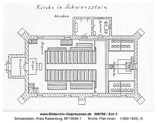 Schwarzstein, Kirche, Plan innen