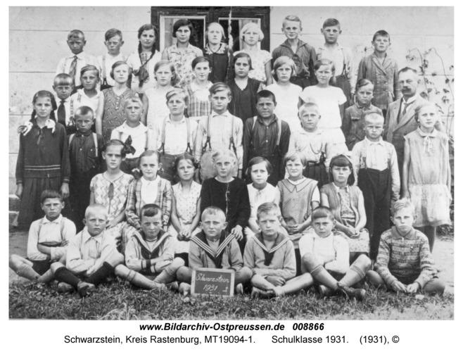 Schwarzstein, Schulklasse 1931