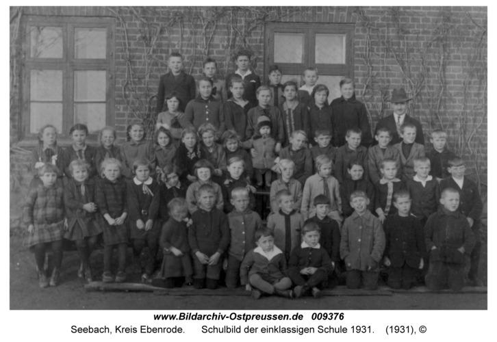 Seebach, Schulbild der einklassigen Schule 1931