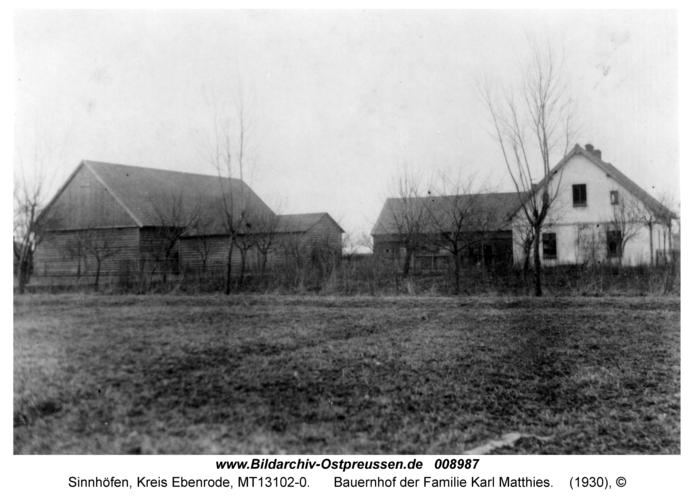 Sinnhöfen, Bauernhof der Familie Karl Matthies